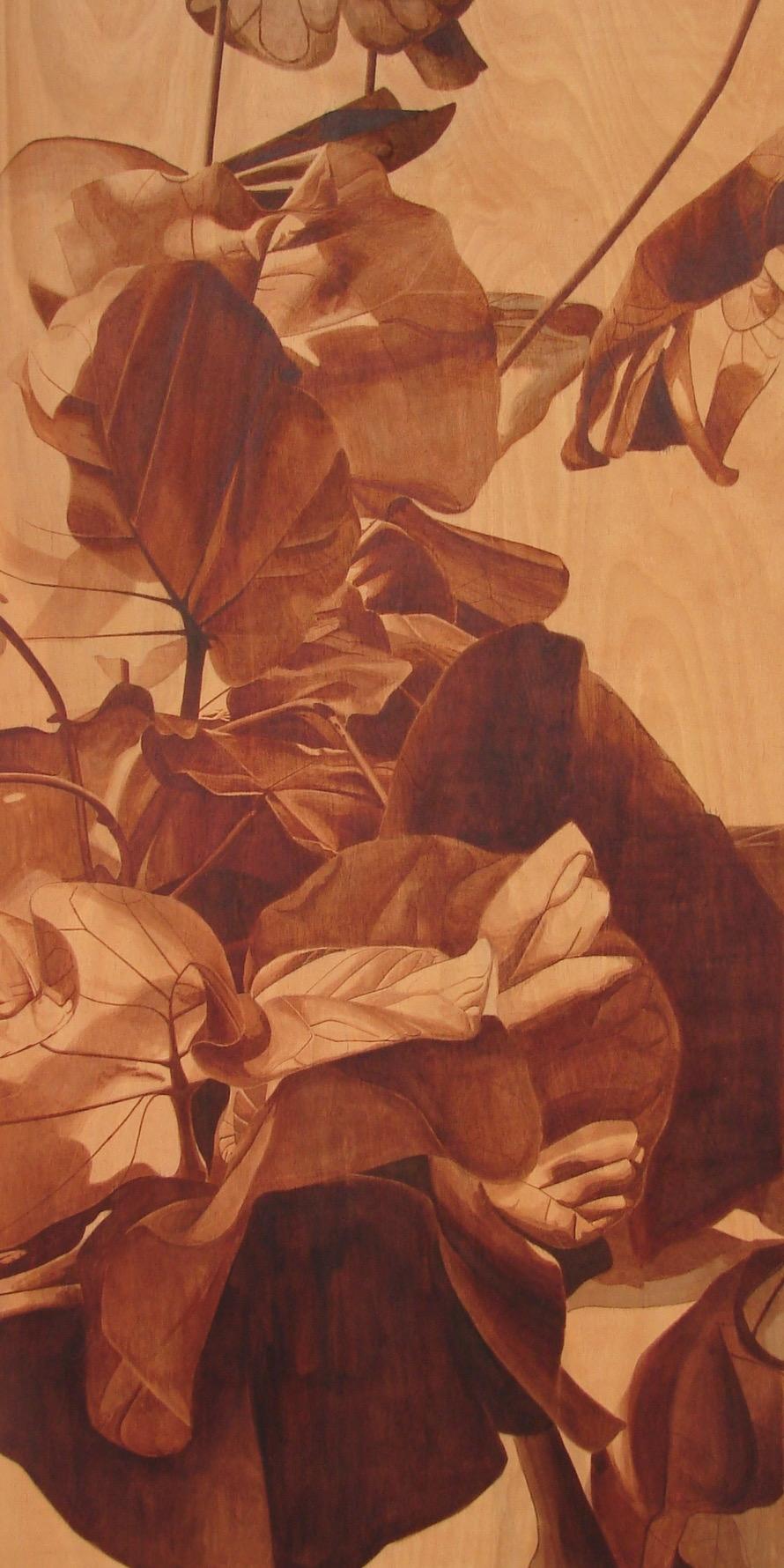 """Ink on Wood, 48""""x24"""", 2013"""